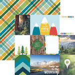 Paper House Productions - Discover USA Collection - 12 x 12 Double Sided Paper - Mountain Tags