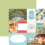 Paper House Productions - Discover USA Collection - 12 x 12 Double Sided Paper - Southern Charm Tags