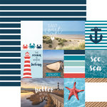 Paper House Productions - Discover USA Collection - 12 x 12 Double Sided Paper - East Coast Tags