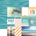 Paper House Productions - Discover USA Collection - 12 x 12 Double Sided Paper - West Coast Tags