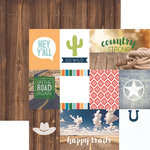 Paper House Productions - Discover USA Collection - 12 x 12 Double Sided Paper - Country Strong Tags