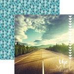 Paper House Productions - Discover USA Collection - 12 x 12 Double Sided Paper - The Road is Life