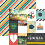 Paper House Productions - Discover USA Collection - 12 x 12 Double Sided Paper - Discover USA Tags