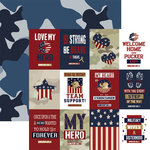 Paper House Productions - Home Front Girl Collection - 12 x 12 Double Sided Paper - Love My Hero Tags
