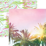 Paper House Productions - Paradise Found Collection - 12 x 12 Double Sided Paper - Palm Trees