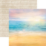 Paper House Productions - Paradise Found Collection - 12 x 12 Double Sided Paper - Paradise Beach