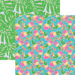 Paper House Productions - Paradise Found Collection - 12 x 12 Double Sided Paper - Pineapples