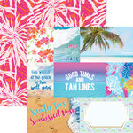 Paper House Productions - Paradise Found Collection - 12 x 12 Double Sided Paper - Paradise Found Tags