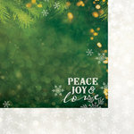 Paper House Productions - Christmas - 12 x 12 Double Sided Paper - Peace, Joy and Love