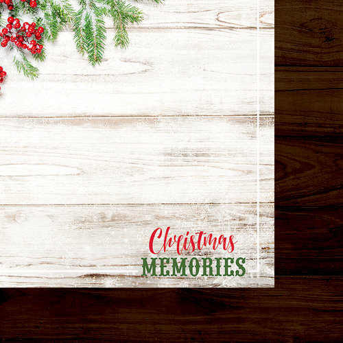 Paper House Productions - Christmas - 12 x 12 Double Sided Paper - Christmas Memories