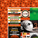 Paper House Productions - Halloween - 12 x 12 Double Sided Paper - Wicked Good Tags
