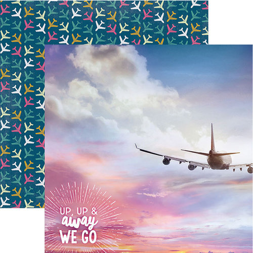 Paper House Productions - Explore Your World Collection - 12 x 12 Double Sided Paper - Up Up & Away We Go