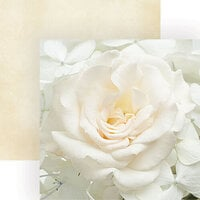 Paper House Productions - 12 x 12 Double Sided Paper - White Rose