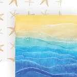 Paper House Productions - 12 x 12 Double Sided Paper - Painted Waves