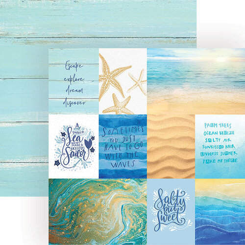 Paper House Productions - 12 x 12 Double Sided Paper - Coastal Waves Tags