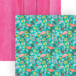 Paper House Productions - 12 x 12 Double Sided Paper - Flamingos