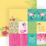 Paper House Productions - 12 x 12 Double Sided Paper - Flamingo Tags
