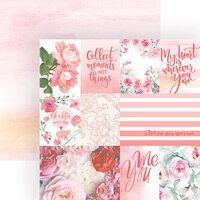 Paper House Productions - 12 x 12 Double Sided Paper - Rose Garden Tags