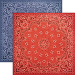 Paper House Productions - 12 x 12 Double Sided Paper - Bandana