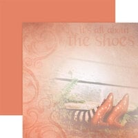 Paper House Productions - Wizard of Oz Collection - 12 x 12 Double Sided Paper - It's All About the Shoes