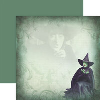 Paper House Productions - Wizard of Oz Collection - 12 x 12 Double Sided Paper - The Wicked Witch