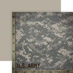 Paper House Productions - 12 x 12 Double Sided Paper - Army Camo