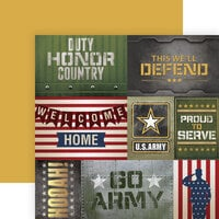 Paper House Productions - 12 x 12 Double Sided Paper - Army Tags