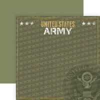 Paper House Productions - 12 x 12 Double Sided Paper - Army Emblem