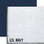 Paper House Productions - 12 x 12 Double Sided Paper - Navy White