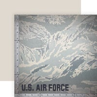Paper House Productions - 12 x 12 Double Sided Paper - Air Force Camo