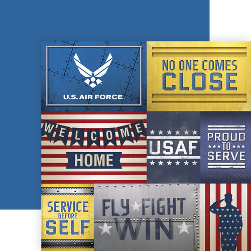Paper House Productions - 12 x 12 Double Sided Paper - Air Force Tags