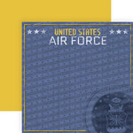 Paper House Productions - 12 x 12 Double Sided Paper - Air Force Emblem