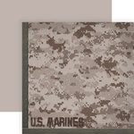 Paper House Productions - 12 x 12 Double Sided Paper - Marines Camo