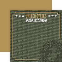 Paper House Productions - 12 x 12 Double Sided Paper - Marines Emblem