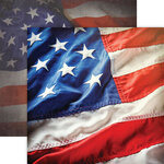Paper House Productions - 12 x 12 Double Sided Paper - US Flag