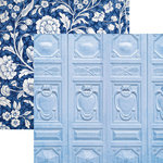 Paper House Productions - Color Ways Collection - Sapphire - 12 x 12 Double Sided Paper - Ornamentation