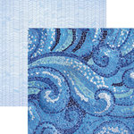 Paper House Productions - Color Ways Collection - Sapphire - 12 x 12 Double Sided Paper - Mosaic