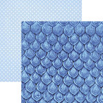 Paper House Productions - Color Ways Collection - Sapphire - 12 x 12 Double Sided Paper - Scales