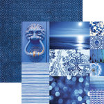 Paper House Productions - Color Ways Collection - Sapphire - 12 x 12 Double Sided Paper - Trim Cards