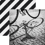 Paper House Productions - Color Ways Collection - Noir - 12 x 12 Double Sided Paper - Bicycle