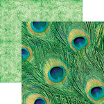 Paper House Productions - Color Ways Collection - Emerald - 12 x 12 Double Sided Paper - Peacock