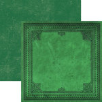 Paper House Productions - Color Ways Collection - Emerald - 12 x 12 Double Sided Paper - Leatherbound