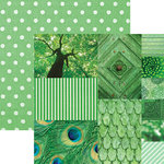 Paper House Productions - Color Ways Collection - Emerald - 12 x 12 Double Sided Paper - Trim Cards