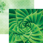 Paper House Productions - Color Ways Collection - Emerald - 12 x 12 Double Sided Paper - Aloe