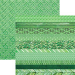 Paper House Productions - Color Ways Collection - Emerald - 12 x 12 Double Sided Paper - Edgings
