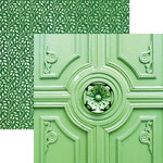 Paper House Productions - Color Ways Collection - Emerald - 12 x 12 Double Sided Paper - Entrance