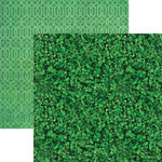 Paper House Productions - Color Ways Collection - Emerald - 12 x 12 Double Sided Paper - Lucky
