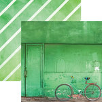 Paper House Productions - Color Ways Collection - Emerald - 12 x 12 Double Sided Paper - Bicycle