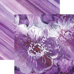 Paper House Productions - Color Ways Collection - Orchid - 12 x 12 Double Sided Paper - Floral
