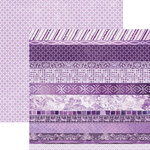 Paper House Productions - Color Ways Collection - Orchid - 12 x 12 Double Sided Paper - Edgings